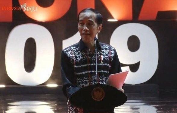 Presiden Joko Widodo hadir dalam Perayaan Natal Nasional di Sentul Bogor I Gambar : Tribun