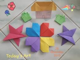 Hasil karya Origami bersama keponakan. Photo by Ari