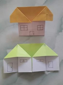 Rumah dari kertas lipat. Photo by Ari