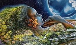 Ilustrasi  mother earth (sumber: pinterest.ch/cowfluff)