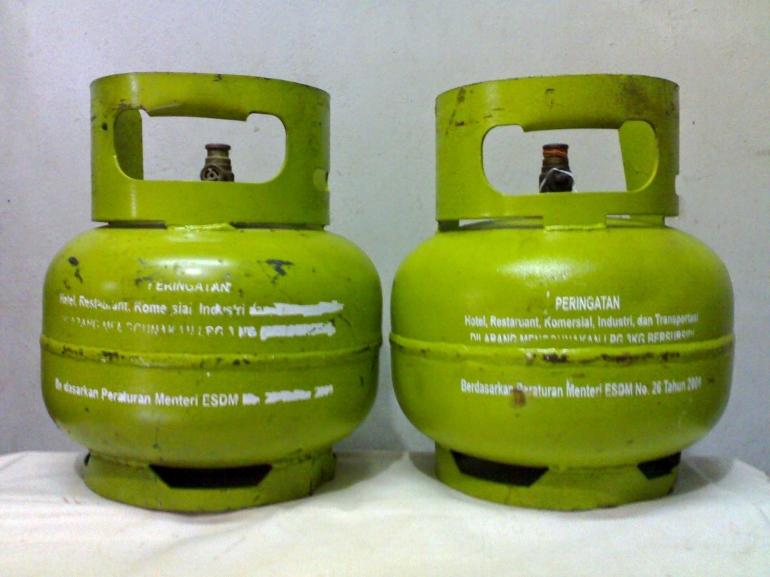 Gas Melon 3 Kg yang akan dicabut subsidi oleh Kementrian ESDM. Sumber gambar: www.banjar.net