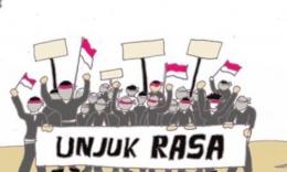 Ilustrasi, unjuk rasa LSM (sumber: suarakarya.id)