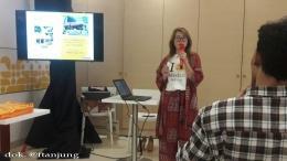 Francisca Lucky, saat memberikan keterangan kepada para blogger Medan, di Sun Plaza (27/01/20). dok. @ftanjung