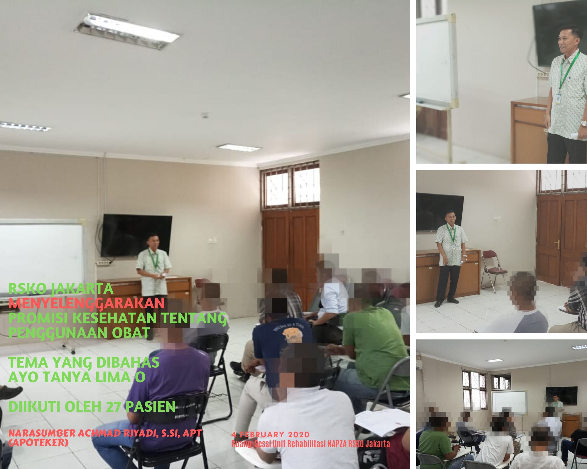 Deskripsi : Profesional Session diadakan rutin setiap hari selasa di RSKO Jakarta I Sumber Foto : dokpri