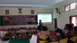 Pemaparan Portofolio Kecamatan, Website dan Video Profil Kecamatan oleh Koordinator Kecamatan Tanggungharjo Rofif Tyo Zaidan--dokpri