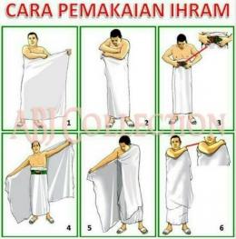Kain ihram bagi lelaki ketika menunaikan haji dan umrah. Foto   dindingkaca.com