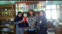 Penulis, Kak Carlie, Alif dan Kepala Sekolahku/dok.pri