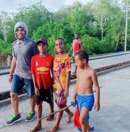 ceriah bareng bersama generasi Asmat,Papua.(dok-lagi)