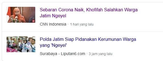 Screenshot laman pencarian Google