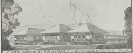 Sketsa Bangunan Institut Wilhelmina, Pegangsaan Timur No. 15. Tahun 1933 Sumber: Indisch Bouwkundig Tijdschrift, 1 November 1933, Hlm. 85.