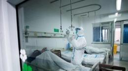 ILUSTRASI Ruang isolasi rumah sakit untuk penanganan pasien virus Corona atau Covid-19 (EPA-EFE/STR CHINA OUT via Kompas.com)