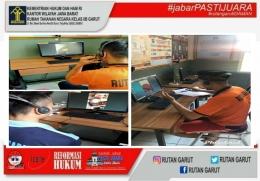 Tahanan dan Narapidana (WBP) sedang menggunakan layanan kunjungan Video Call | dok. Rutan Garut