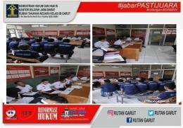 Pelaksanaan Sidang Tim Pengamat Pemasyarakatan (TPP) terhadap WBP yang akan mengikuti Perogram Asimilasi | dok. Rutan Garut