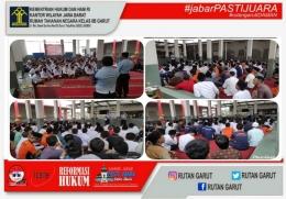 Kepala Rutan Garut, Sukarno Ali mensosialisasikan bahwa program Asimilasi di Rumah demi pencegahan penyebaran virus Covid-19 dan semua itu GRATIS | dok. Rutan Garut