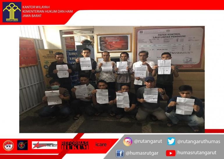Warga Binaan yang mendapatkan SK Asimilasi | dok. Rutan Garut