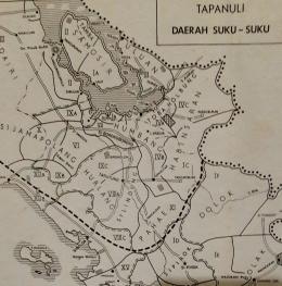 Peta 1. Persebaran utama suku Batak Toba menurut pemetaan Vergouwen tahun 1933 (Repro Felix Tani)