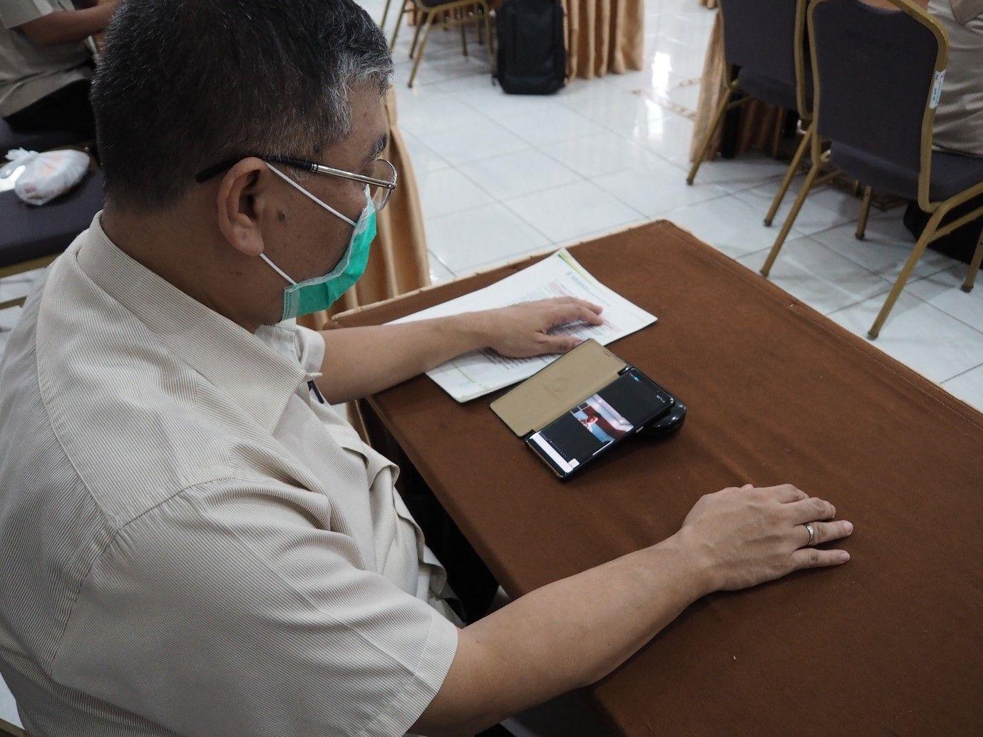 Deskripsi : RSKO Jakarta Menyelenggarakan Munggahan Secara Online I Sumber Foto : dokpri