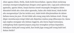 Potongan surat Kartini pada sahabatnya (Foto : steemit.com)