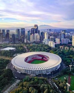 Gunung Pangrango dan Gunung Salak terlihat dari Kota Jakarta (Dok. RIFKY WIDIANTO)