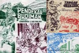 Cerita silat karya Asmaraman S Kho Ping Hoo (ilustrasi: BaleBengong.com)