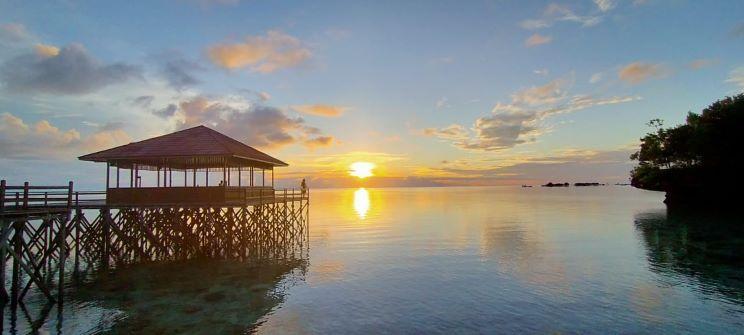 Senja di  Maratua, foto diambil Sabtu (2/5) lokasi Pratasaba Resort