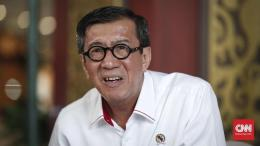 Menteri Hukum dan HAM Yasonna Laoly - Sumber Foto: cnnindonesia.com