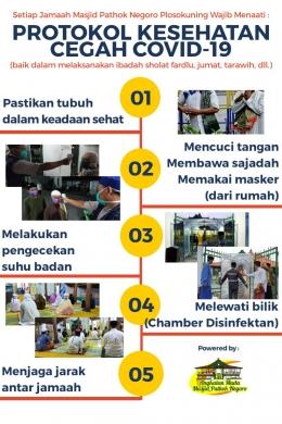Poster Protokol Kesehatan (sumber : dokumentasi pribadi, karya pribadi)
