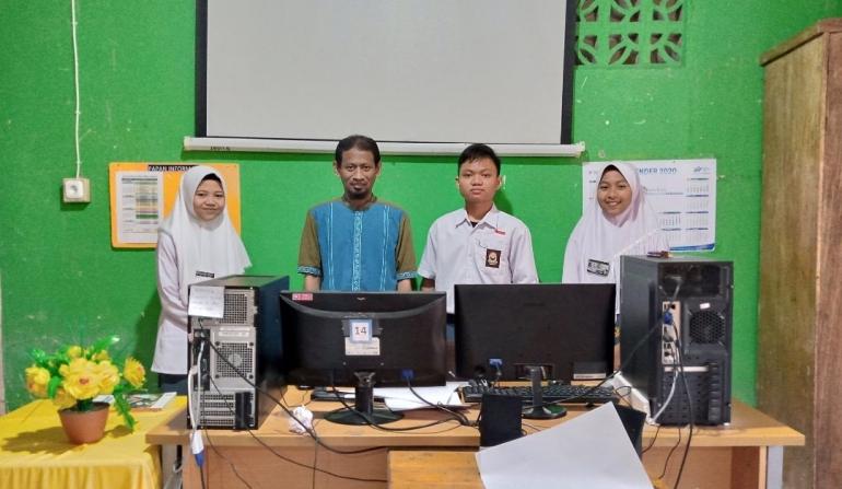 Siswa MA PP. Nurul Falah peserta Lomba Indonesia Sehat Kementerian Agama RI 2020. (Dokpri)