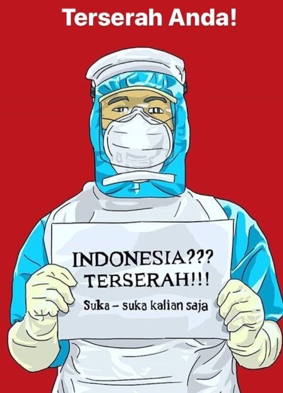 Tagar #indonesiaterserah yang ramai di dunia maya. suarabaru.id