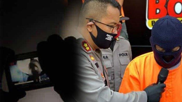 Oknum guru MH setelah ditangkap pihak kepolisian I Gambar : Tribunnews