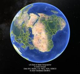 Tampilan Aplikasi Google Earth Pro (Sumber: Dokumen Pribadi)