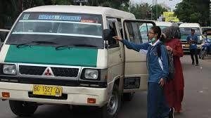 Angkutan Kota di Kota Palembang, sumber : palembang.tribunnews.com