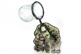 ilustrasi gelembung sabun. (sumber: KOMPAS/DIDIE SW)