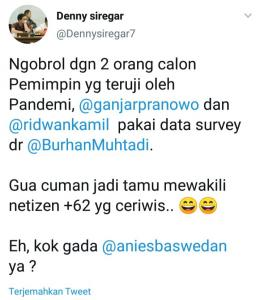 Screensot akun twitter Denny Siregar