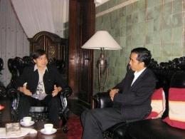Foto Saat Saya Berdiskusi dengan Walikota Solo Bapak Jokowi (dokpri)