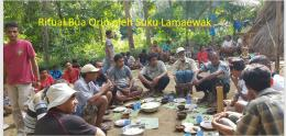 Ritual makan bersama (Bua Orin) oleh Suku Lamaewak di desa Adobala Pulau Adonara NTT