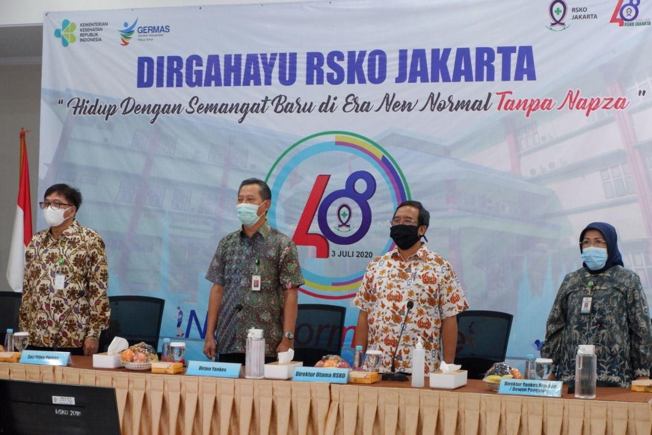Deskripsi : 48 Tahun RSKO Jakarta, Hidup Dengan Semangat Baru di Era New Normal I Sumber Foto : dokpri