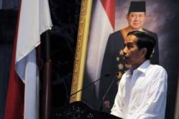Foto:  Jokowi membawakan kata sambutan/kompas.com