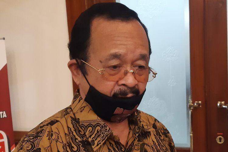 Bakal calon wali kota yang ditugaskan DPC PDI-P Solo sekaligus Wakil Wali Kota Solo, Achmad Purnomo.(KOMPAS.com/LABIB ZAMANI)