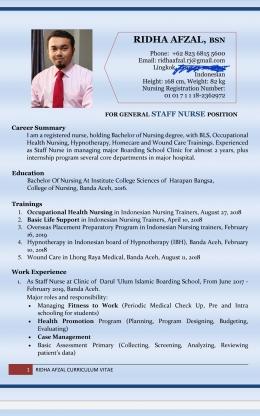 Contoh curriculum vitae (Dokumentasi pribadi)