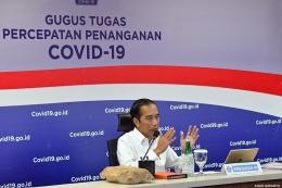 Presiden Jokowi di Graha Badan Nasional Penanggulangan Bencana (BNPB), Jakarta, Rabu (10/6/2020). (SETPRES/AGUS SUPARTO) via nasional.kompas.com