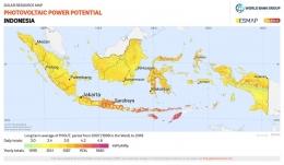 Potensi Energi Surya Indonesia (globalsolaratlas)