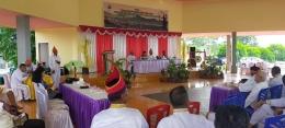 Pertemuan dengan Pantua Adat Banua, Dewat Adat Kep. Talaud. Sumber: Dok Pribadi/Balar Sulut