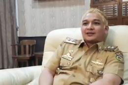Pasha berambut kuning | source : kompas TV
