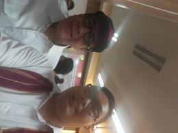 Berfoto dengan Bapak Menteri Hukum dan HAM, Bapak Yasonna