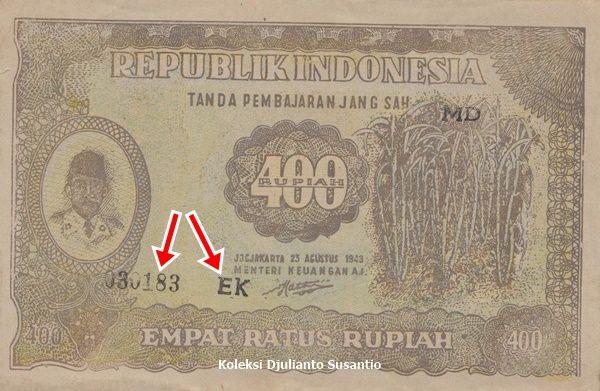 Uang palsu nominal unik Rp 400 (Dokpri)