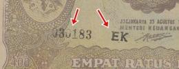 Huruf dan nomor seri yang menunjukkan uang palsu (Dokpri)