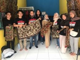 Tim KKN dan pemilik Batik Evan Collection   dokpri