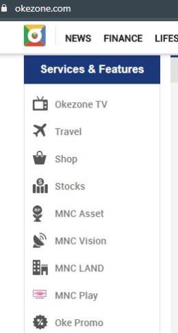 Bentuk networked yang dibangun oleh okezone.com/ Dok. okezone.com