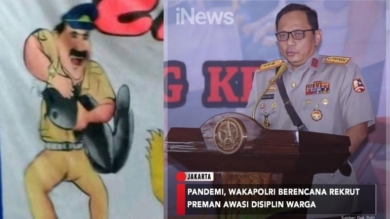 Wakapolri (Wakapolri) Komjen Gatot Eddy Pramono saat meminta jajarannya melakukan persiapan PSSBB pada minggu (13/9/2020). (iNews/instagram.com)